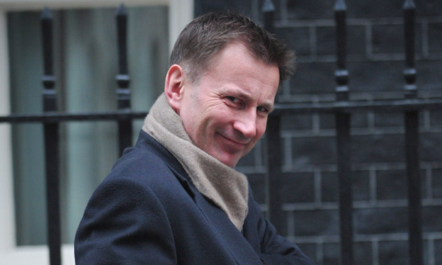 Jeremy Hunt leaves Downing Street